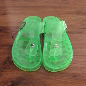 Forever 21 clear jelly sandals